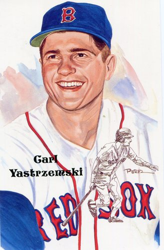 Photo of 1980-02 Perez-Steele Hall of Fame Postcards #204 Carl Yastrzemski -- HOF Class of 1989