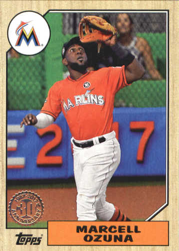 Photo of 2017 Topps Update '87 Topps #US8728 Marcell Ozuna