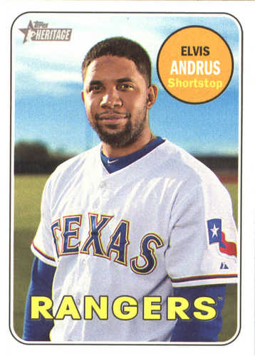 Photo of 2018 Topps Heritage #153 Elvis Andrus
