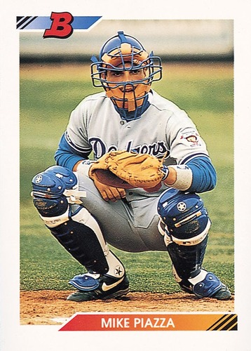 Photo of 1992 Bowman #461 Mike Piazza Rookie CArd -- Hall of Fame Class of 2016