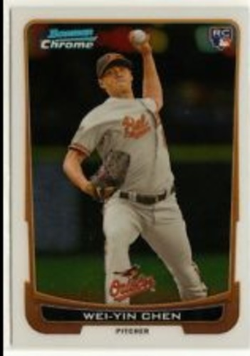 Photo of 2012 Bowman Chrome Draft #45 Wei-Yin Chen RC