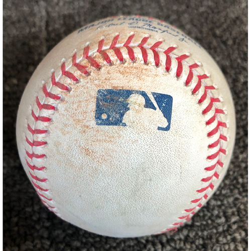 Photo of 2019 Game-Used Baseball used on 5/12/19 vs. Cincinnati Reds - T-2: Madison Bumgarner to Nick Senzel - RBI Double to LF - 1st Career Double, Career Hit #10 & Career RBI #7