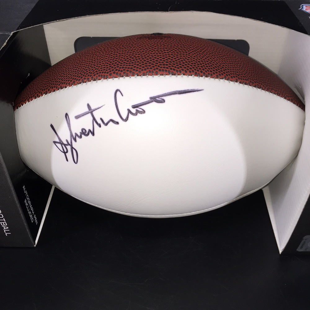 Titans - Slyvester Croom Signed Panel ball W/ Titans Logo