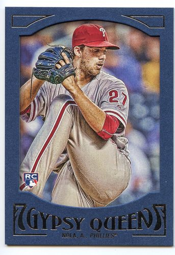 Photo of 2016 Topps Gypsy Queen Framed Blue #95 Aaron Nola