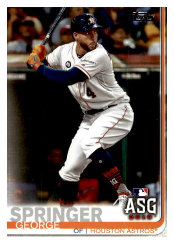 Photo of 2019 Topps Update #US92 George Springer AS