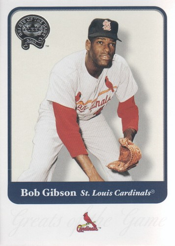Photo of 2001 Greats of the Game #135 Bob Gibson