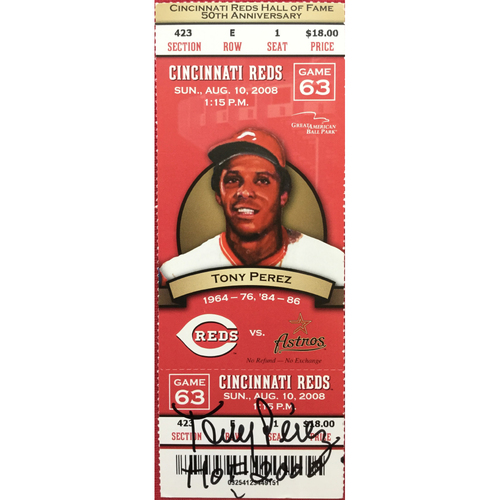 Photo of Tony Perez Signed Ticket