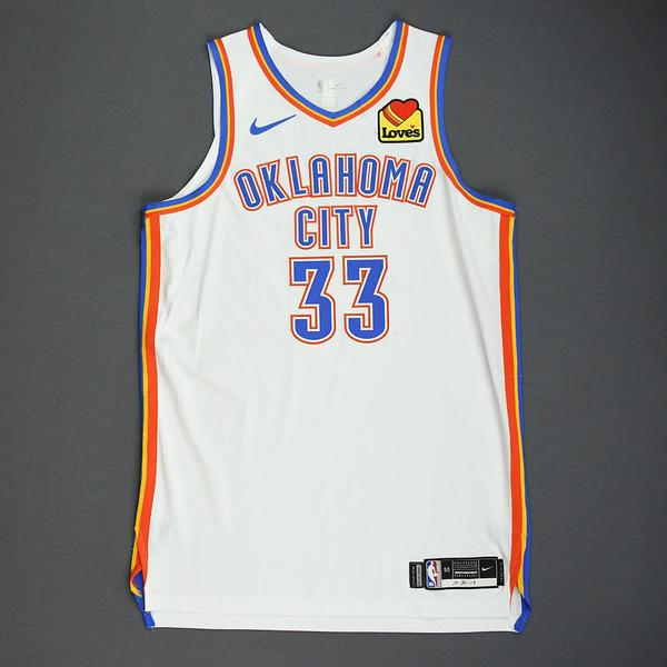 Image of Mike Muscala - Oklahoma City Thunder - Game-Worn Association Edition Jersey - 2019-20 NBA Season