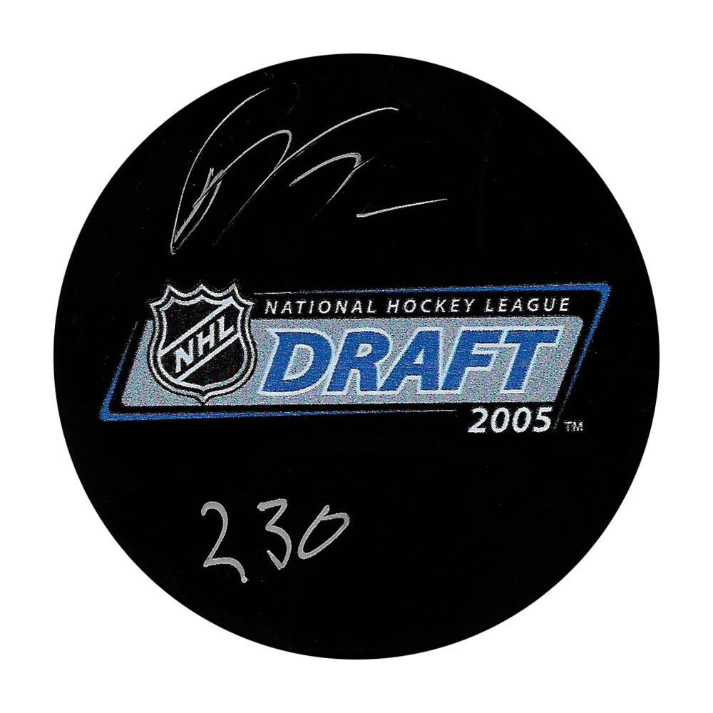 Patric Hornqvist Autographed 2005 NHL Entry Draft Puck w/230 Inscription