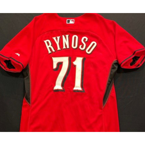 Photo of RYNOSO -- Authentic Reds Jersey -- $1 Jersey Auction -- $5 Shipping -- Size 46 (Not MLB Authenticated)