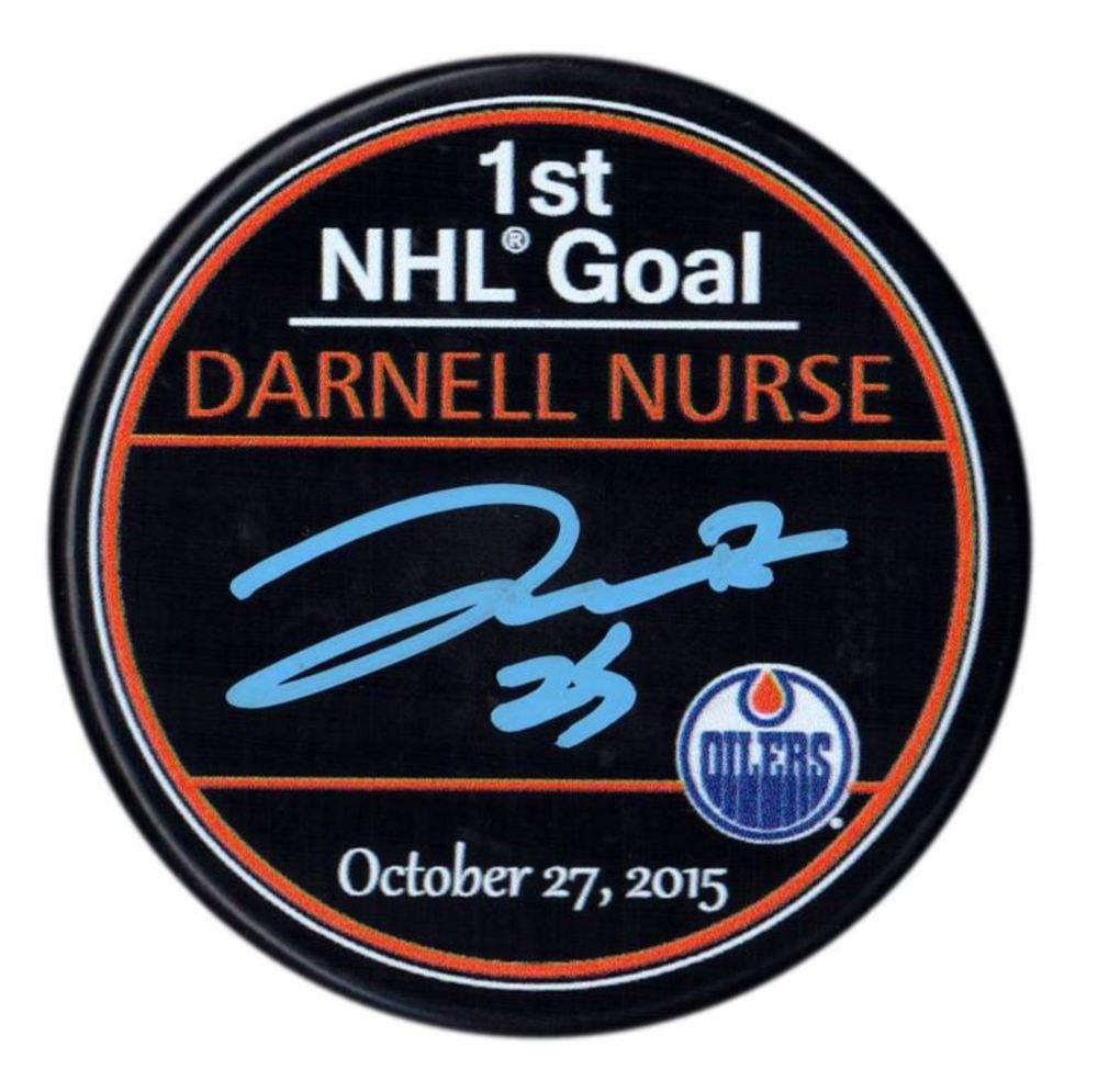 Darnell Nurse - Signed 1st NHL Goal Edmonton Oilers Puck