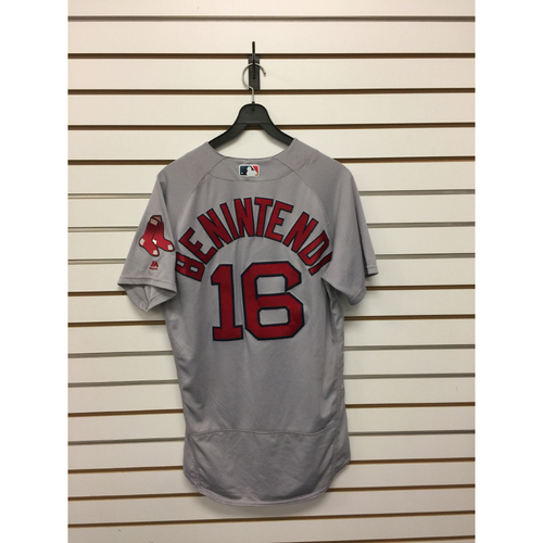 Andrew Benintendi Game-Used May 6, 2017 Road Jersey - 3 for 6, 2 RBIs