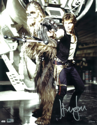 Harrison Ford as Han Solo 11x14 Autographed in Silver Ink Photo