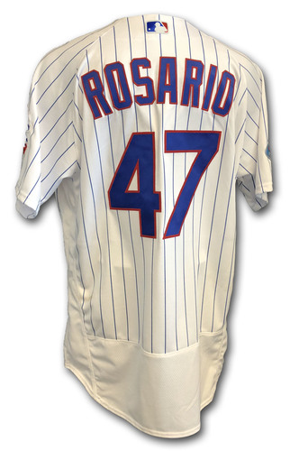 Photo of Randy Rosario Game-Used Jersey -- Rockies vs. Cubs -- 10/2/18 -- 2018 Postseason Wild Card
