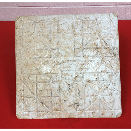 Photo of Game-Used 1st Base from the Final Home Game of 2018 Season