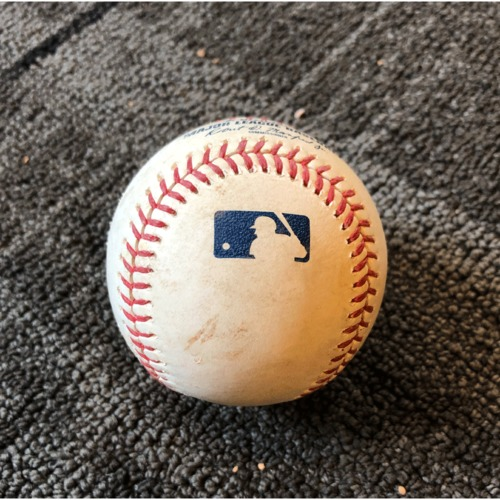 Photo of 2019 Game Used Baseball - San Francisco Giants vs. New York Yankees - 4/27/19 - T-5: Derek Holland to Thairo Estrada - Single to Right Field Career Hit #4