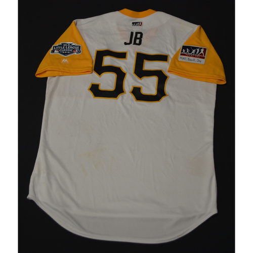 "Photo of 2019 Little League Classic - Game Used Jersey - Josh ""JB"" Bell,  Chicago Cubs at Pittsburgh Pirates - 8/18/2019 (Size - 48)"