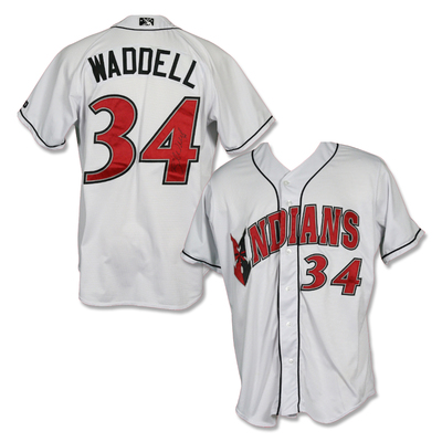 #34 Brandon Waddell Autographed Game Worn Home White Jersey
