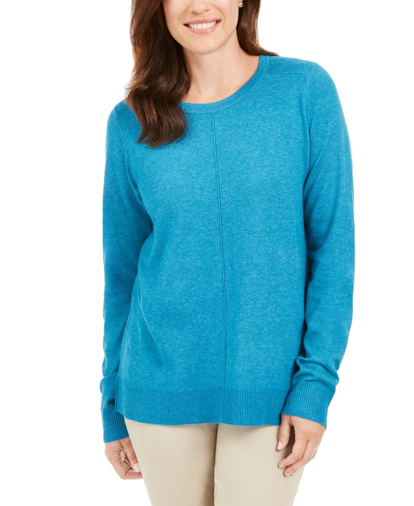 Photo of Karen Scott Plus Size Scoop-Neck Seamed Sweater