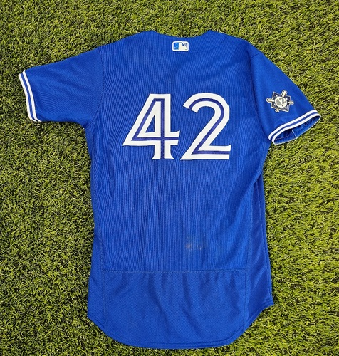 Photo of CHARITY AUCTION: Authenticated Game Used #42 Jersey: Cavan Biggio (Aug 30, 20: 1-for-5 with 1 RBI). Size 42.
