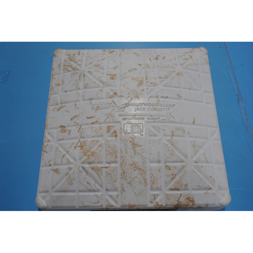 Photo of Game-Used 3rd Base - 2020 ALCS - Houston Astros vs. Tampa Bay Rays - Game 2: Innings 1-5