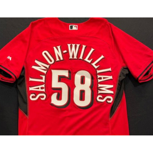 Photo of SALMON-WILLIAMS -- Authentic Reds Jersey -- $1 Jersey Auction -- $5 Shipping -- Size 46 (Not MLB Authenticated)