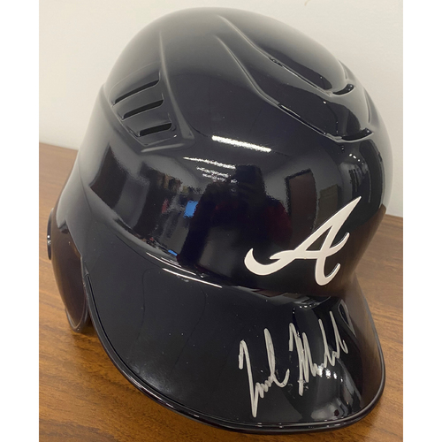 Photo of Nick Markakis Autographed Helmet