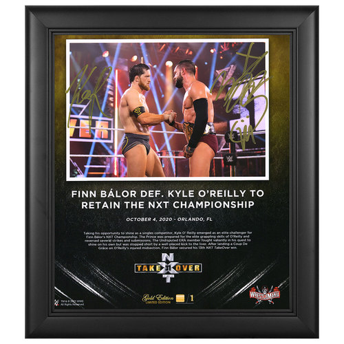 Finn Balor and Kyle O'Reilly SIGNED NXT TakeOver 31 WrestleMania Gold Edition Plaque (#1 of 1)