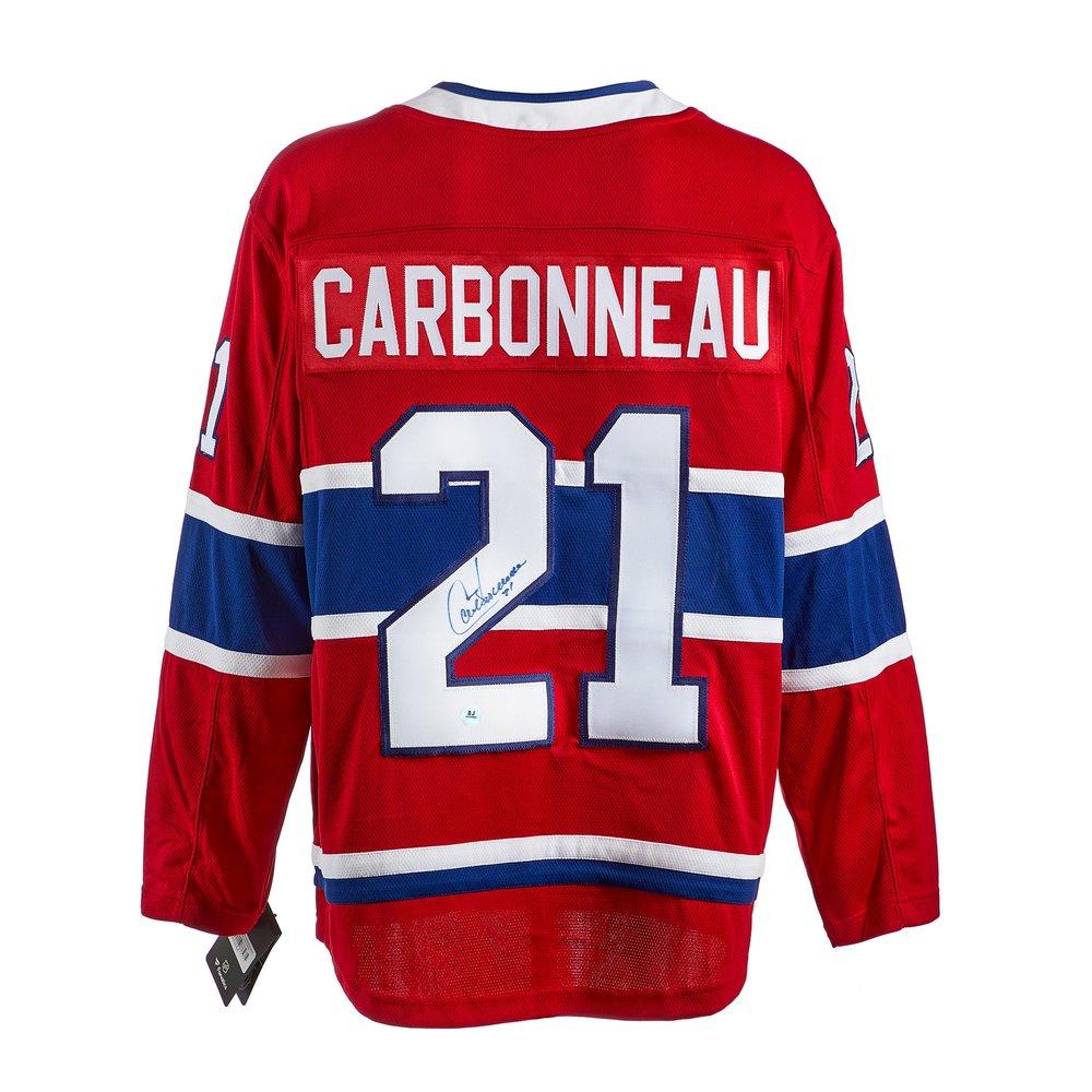 Guy Carbonneau Montreal Canadiens Autographed Fanatics Jersey