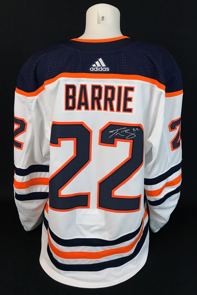 Tyson Barrie #22 - Autographed 2020-21 Edmonton Oilers vs Calgary Flames Battle of Alberta Game-Worn Jersey