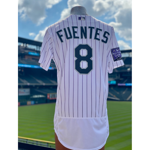 Photo of 2021 Game-Used Joshua Fuentes Jersey 1st Career Walk-Off - 3 Games, 4 Hits (1 Walk-Off RBI Single), 2 Home Runs, 7 RBI's