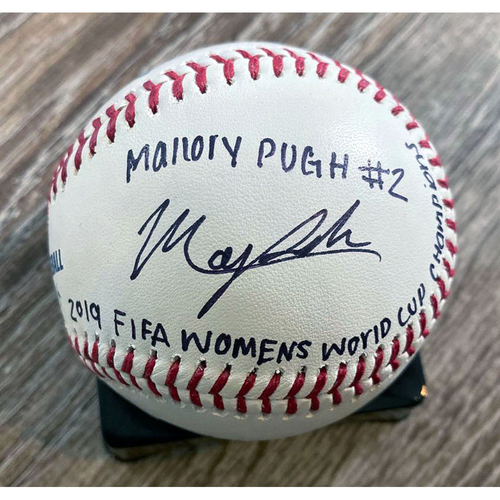 Photo of UMPS CARE AUCTION: Baseball Signed by 2019 FIFA Women's World Cup Champion Mallory Pugh