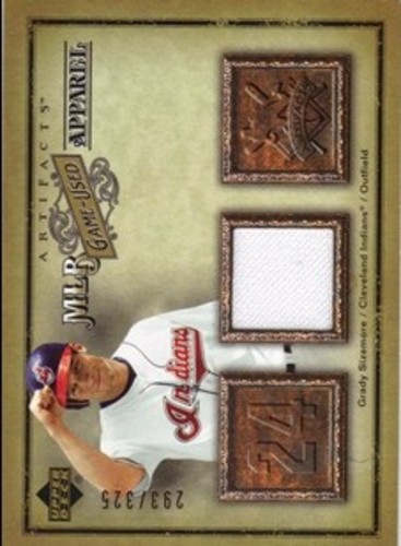 Photo of 2006 Artifacts MLB Game-Used Apparel #GS Grady Sizemore Jsy/325