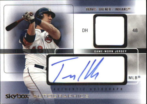 Photo of 2005 SkyBox Autographics Signatures Game Jersey Gold #THA Travis Hafner