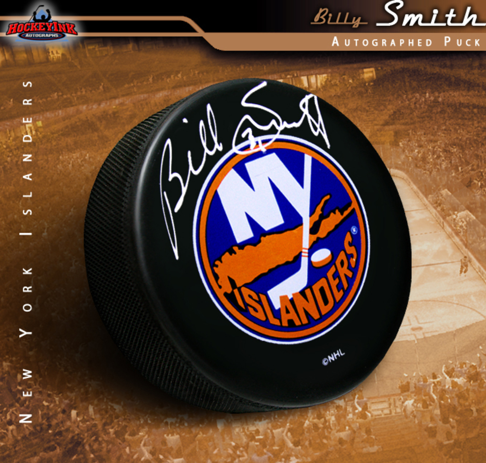 BILLY SMITH Signed New York Islanders Puck