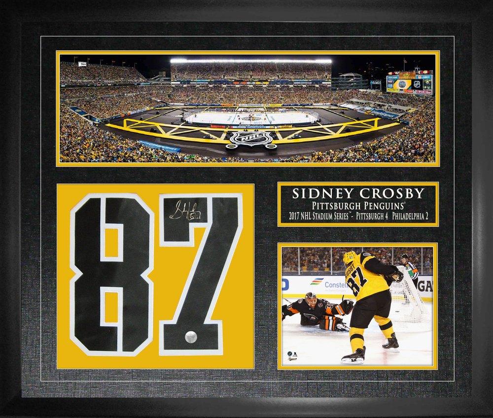 half off 0fe00 3d62f Sidney Crosby - Signed & Framed Jersey Number Collage - 2017 ...