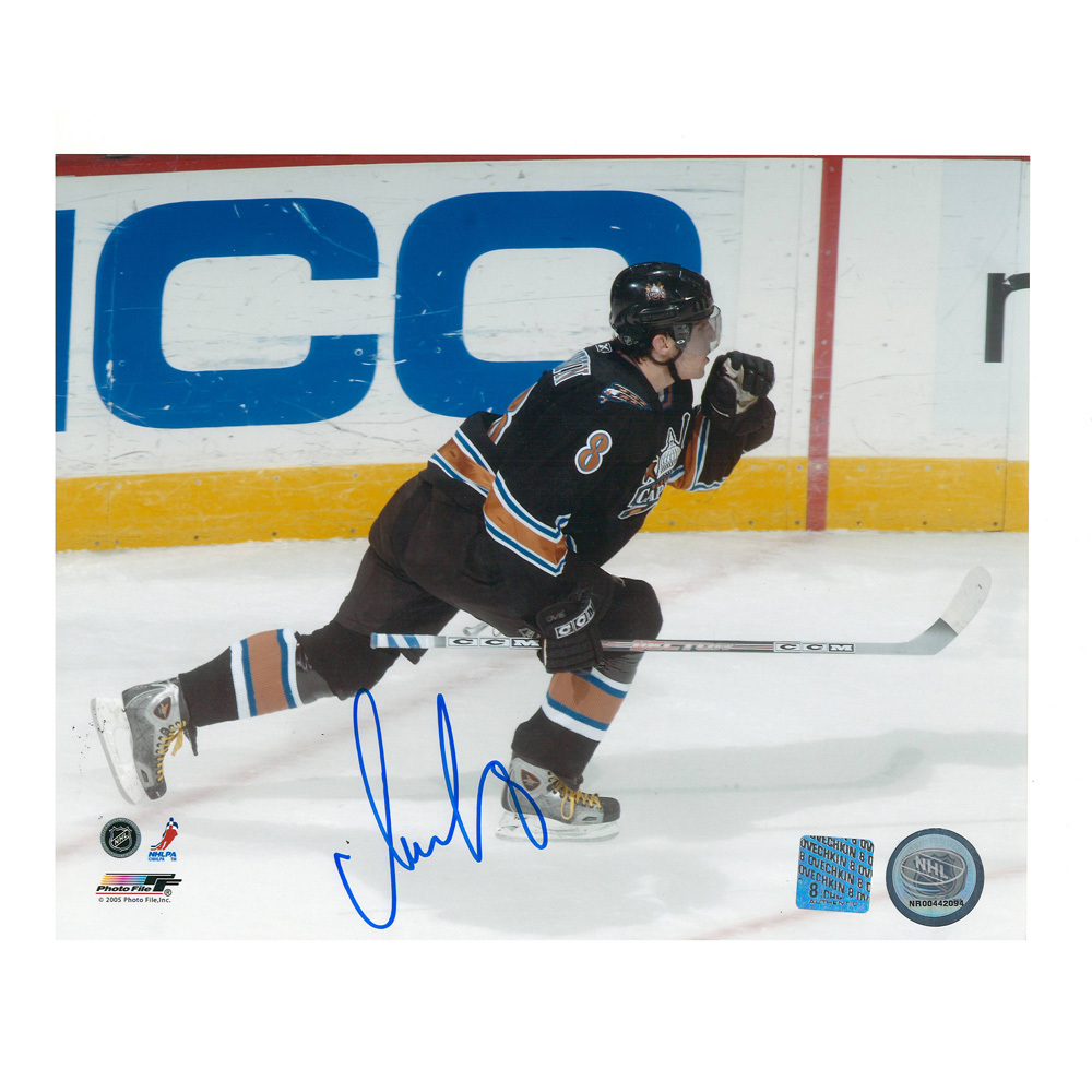ALEXANDER OVECHKIN Signed Washington Capitals 8 X 10 Photo - 70384