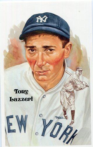 Photo of 1980-02 Perez-Steele Hall of Fame Postcards #209 Tony Lazzeri -- HOF Class of 1991