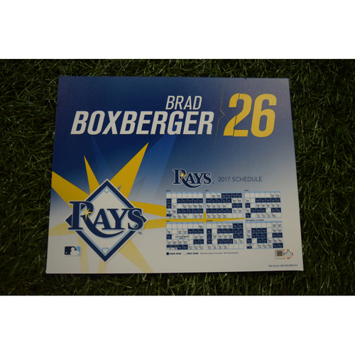 2017 Team-Issued Locker Tag - Brad Boxberger