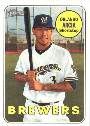 Photo of 2018 Topps Heritage #155 Orlando Arcia