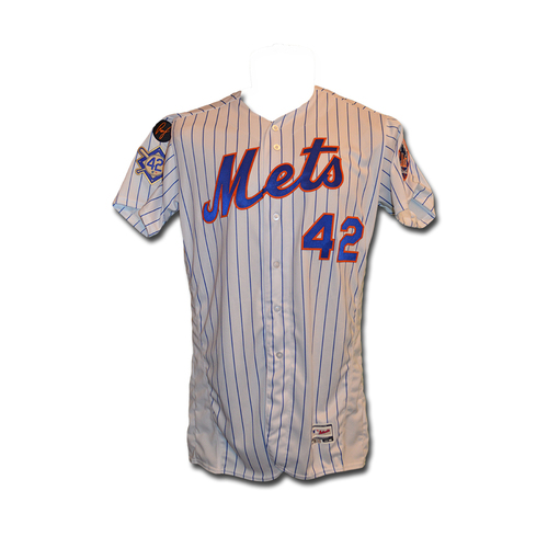 b30e1d83c Yoenis Cespedes - Game Used White Pinstripe Jackie Robinson  42 Jersey -  Mets vs.