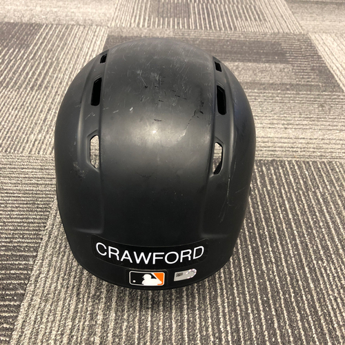 Photo of 2018 Game Used Batting Helmet worn by #35 Brandon Crawford on 7/26 vs. Milwaukee Brewers - Size 7 1/2