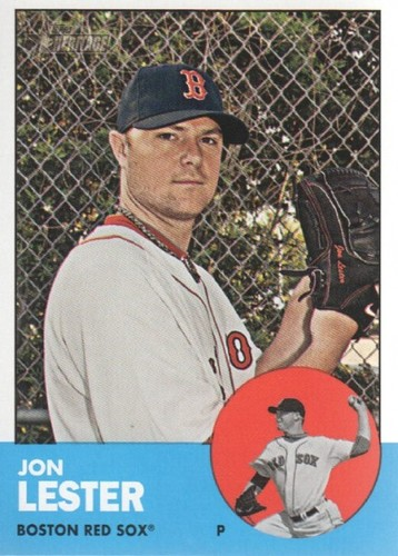 Photo of 2012 Topps Heritage #76A Jon Lester