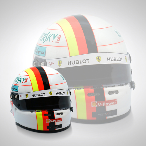 Photo of Sebastian Vettel 2019 1:2 Scale Replica Helmet