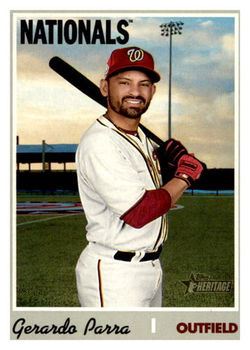 Photo of 2019 Topps Heritage #599 Gerardo Parra