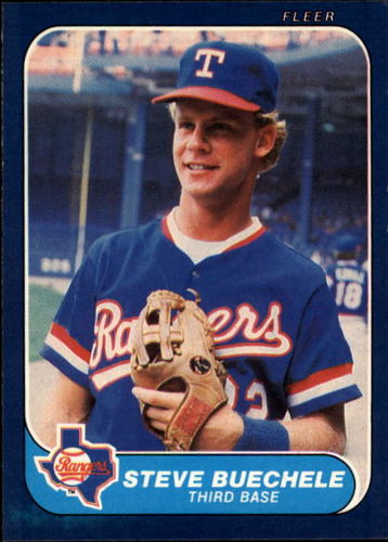 Photo of 1986 Fleer #558 Steve Buechele RC