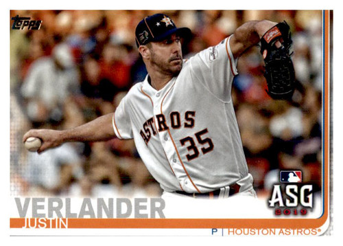Photo of 2019 Topps Update #US96 Justin Verlander AS