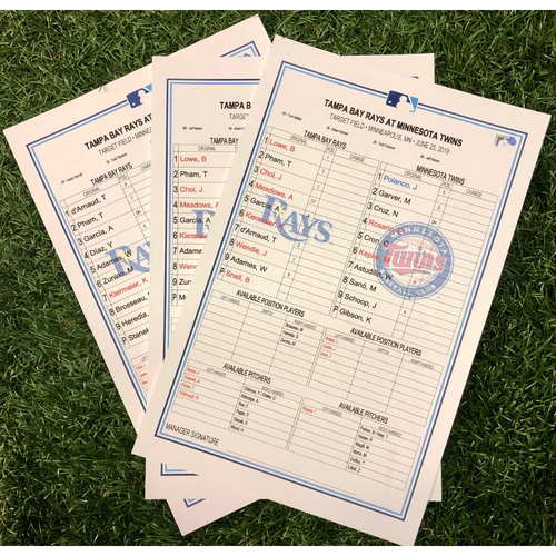 Photo of Replica Lineup Card Set: June 25-27, 2019 at MIN