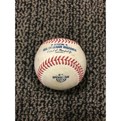 2020 Opening Day Game-Used Baseball - D-backs vs. Padres 7/24/20 -- Top 3: Chris Paddack vs. Jake Lamb (Double)