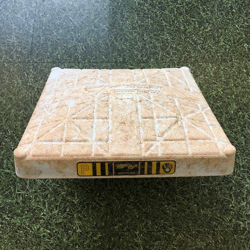 Game-Used 2020 Base - 08/29/20 - PIT @ MIL - 1st Base, Innings 1-9 - Eric Sogard 1st Career Walkoff Homerun